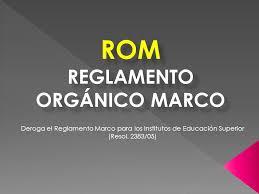 REGLAMENTO ORGANICO MARCO